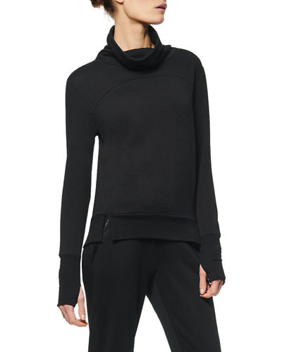 Fleece Funnel-Neck Tunic