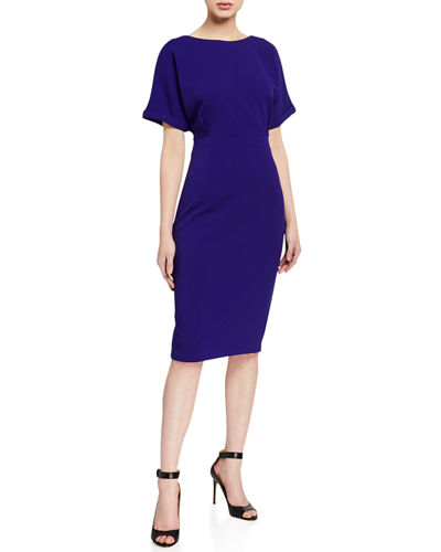Dolman-Sleeve Sheath Dress