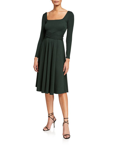 Sinclair Rib-Knit Midi Dress