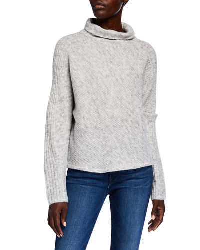Long-Sleeve Knit Turtleneck Sweater