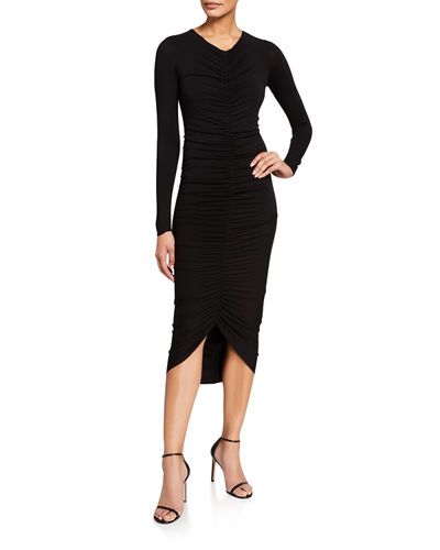 High-Roller Ruched Body-Con Dress