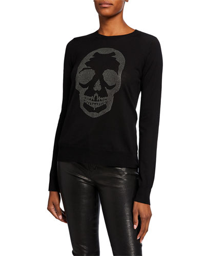 Miss Skull Studded Wool Sweater