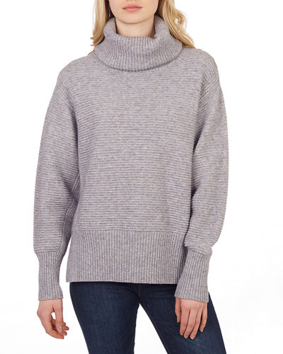 Cool Girl Ribbed Turtleneck Sweater