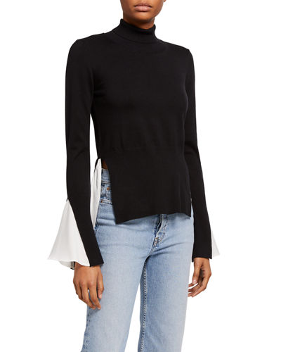 Sweater & Blouse Twofer Combo Top