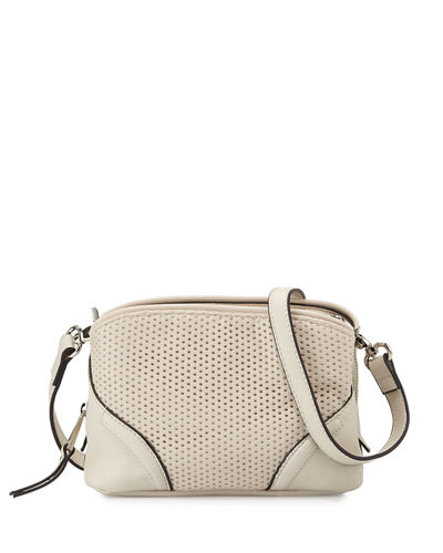 Brett Perforated Faux-Leather Crossbody Bag