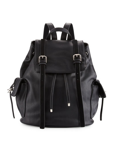 Kyle Faux-Leather Flap Backpack