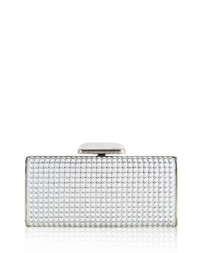 Judith Leiber Couture Soft-Sided Rectangle Clutch with Enamel