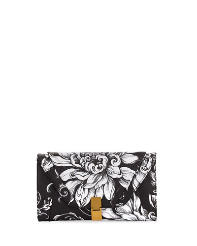 Cordoba Convertible Floral Faux-Leather Clutch Bag