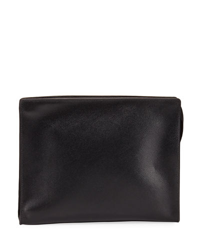 Leather Cosmetic Clutch Bag