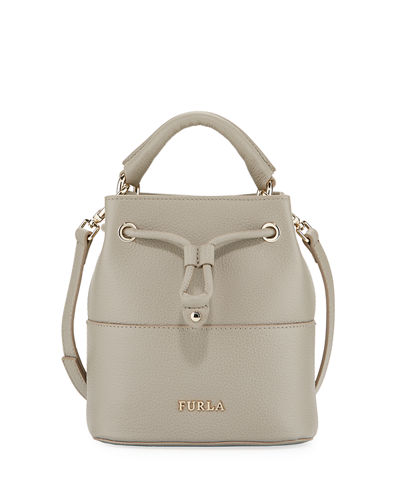 Rosa Furla Brooklyn Mini Leather Drawstring Bag