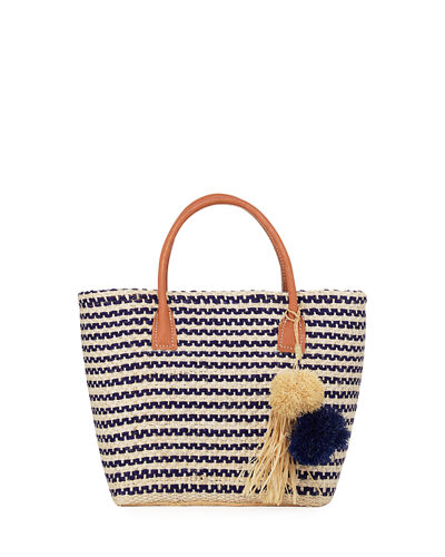 Small Provence Straw Tote Bag