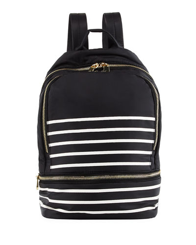 Brody Striped Nylon Backpack