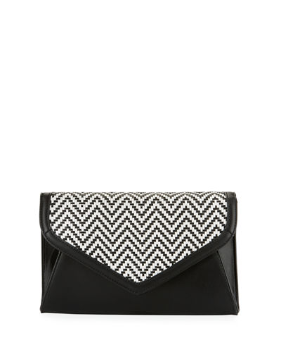 Woven Envelope Chain Clutch Bag