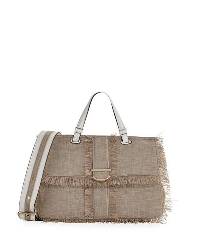 Hudson Linen Satchel Bag