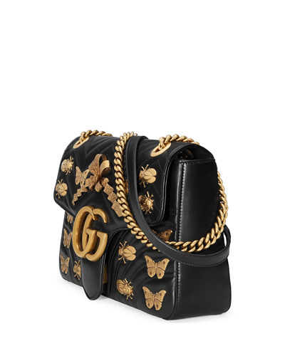 6acc975d0a88 Gucci GG Marmont 2.0 Medium Insect Shoulder Bag