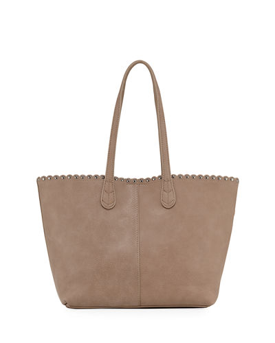 Scalloped Studded Tote Bag