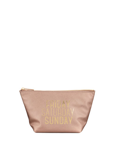 Saffiano Conversation Large Cosmetic Bag