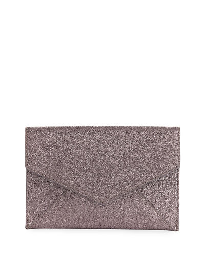 Crinkle Metallic Envelope Clutch Bag