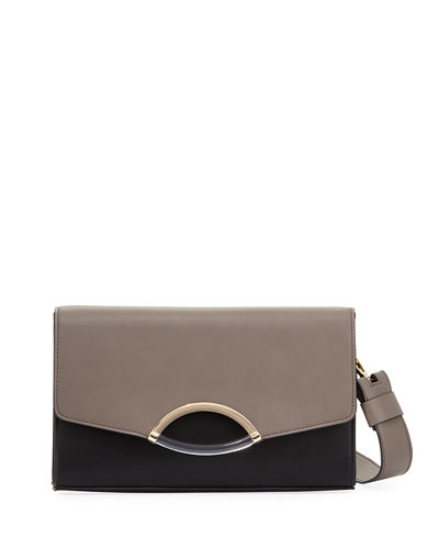 Lyric Colorblock Lucite-Cutout Clutch