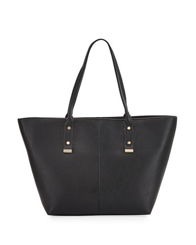 A-Line Basic Faux-Leather Tote Bag
