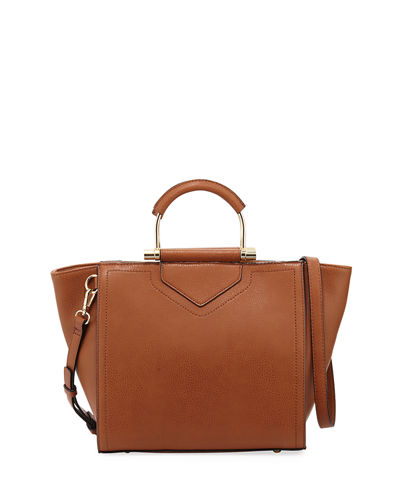 Cate Triangle Hard-Handle Satchel Bag