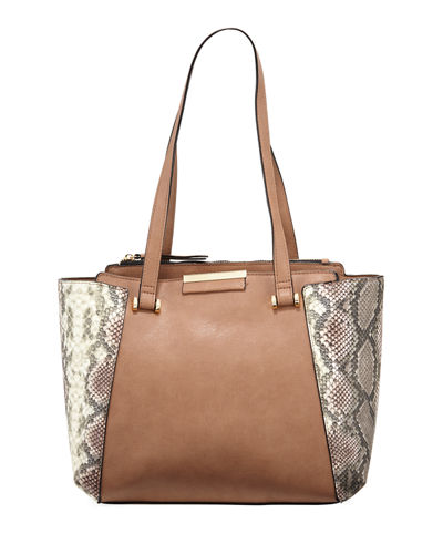 Elsie Snake-Embossed Tote Bag