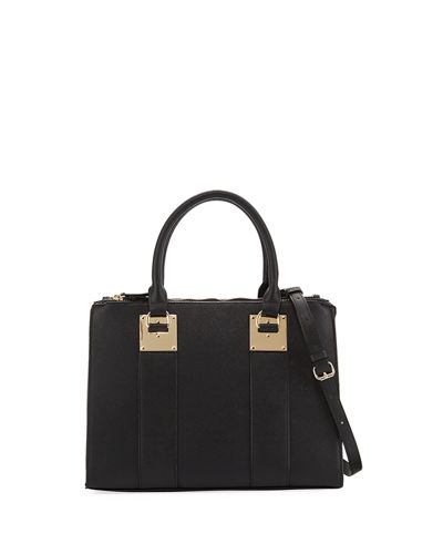 Morgan Saffiano Double Satchel Bag