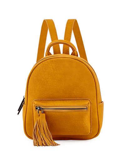 Matte Pebbled Mini Backpack
