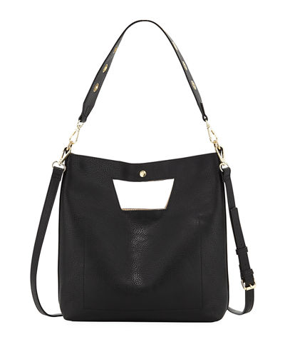 Sabrina Cutout Unlined Shoulder Bag