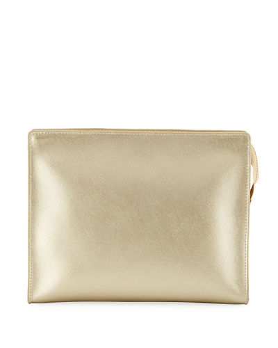 Saffiano Leather Cosmetic Clutch Bag