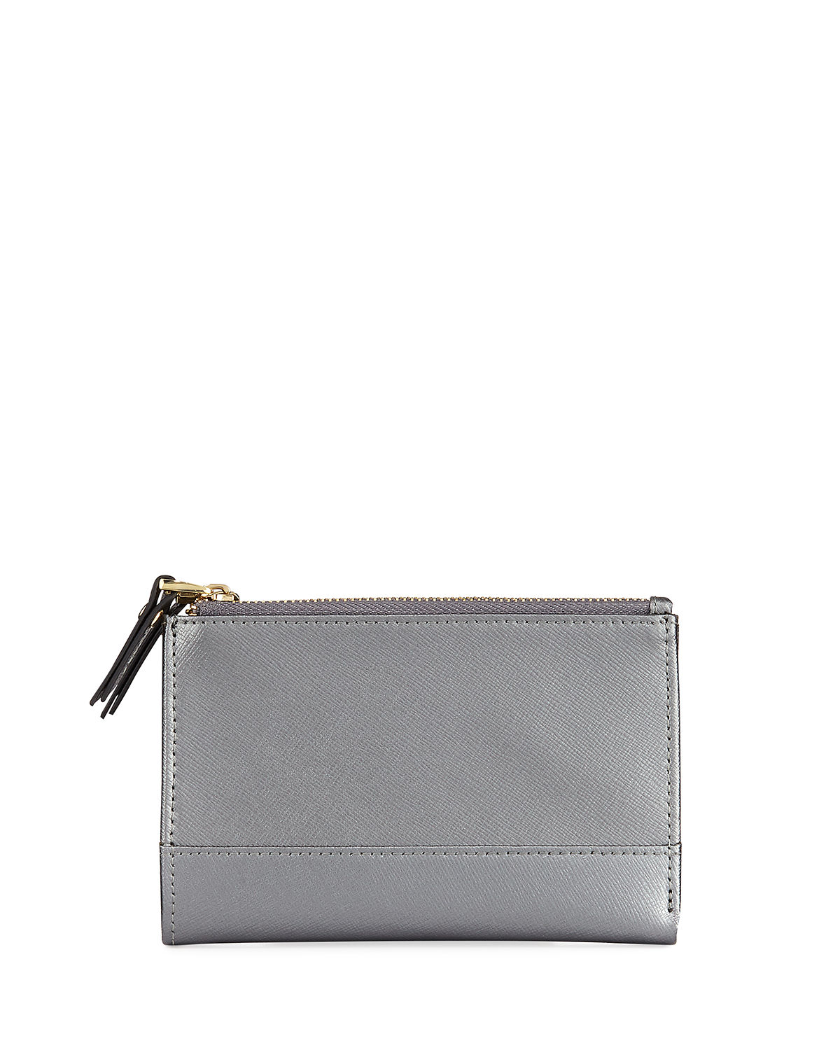 NEIMAN MARCUS | Saffiano Double-Zip Fold-Over Wallet | Goxip
