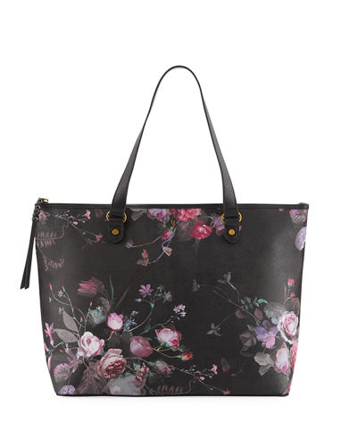 faefef3a65d Elliott Lucca Aria Large Floral-Print Tote Bag