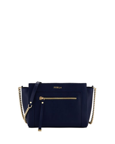 Ginevra Small Leather Crossbody Bag