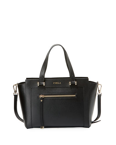 Ginevra Medium Leather Satchel Bag