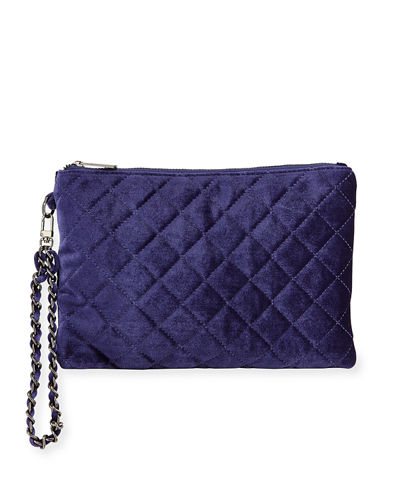 Foster Quilted Velvet Clutch Bag