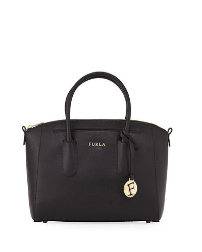 Tessa Small Saffiano Leather Satchel Bag
