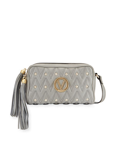 Mila Studs Sauvage Leather Tassel Crossbody Bag