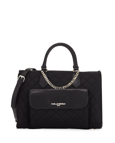 Lucille Colorblock Nylon Satchel Bag