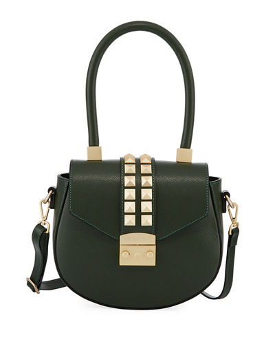 Yolande Palmellato Leather Saddle Bag