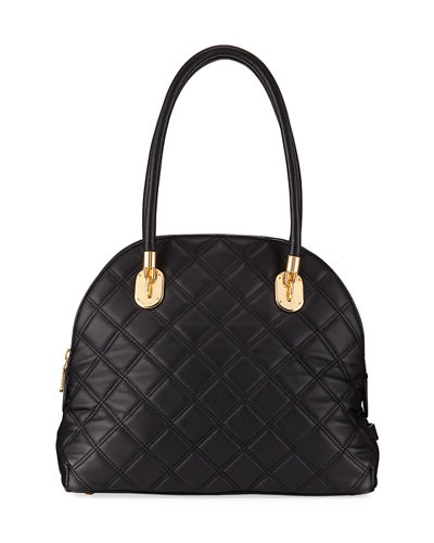 Benson Quilted Dome Satchel Bag