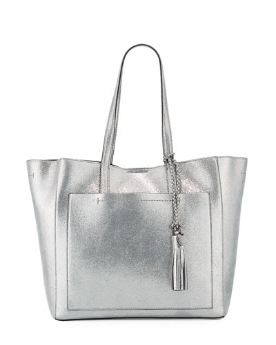 Natalie Unlined Metallic Tote Bag