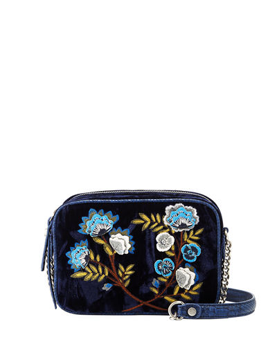 Perri Crushed Velvet Crossbody Bag