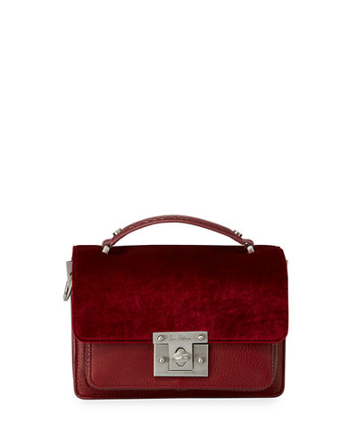Gessica Mixed-Media Satchel Bag