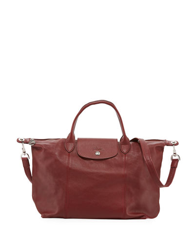 9ee7dd256a0b Le Pliage Cuir Medium Leather Tote Bag