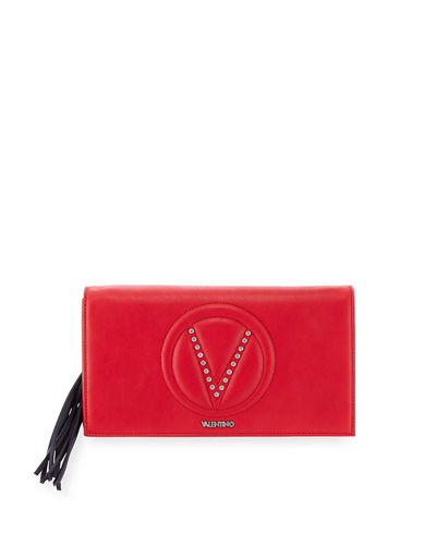 Valentino By Mario Valentino Lena Sauvage Two-Tone Clutch