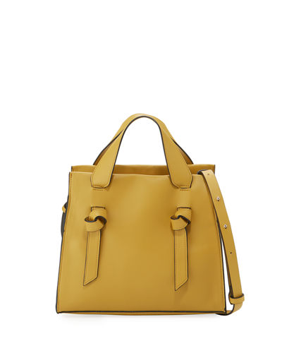 Aria Small Leather Tote Bag