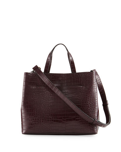 Alana Crocodile-Embossed Tote Bag