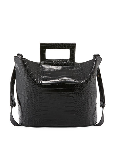 Corey Crocodile-Embossed Tote Bag