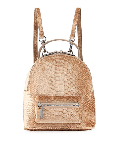 Snake Velvet Backpack
