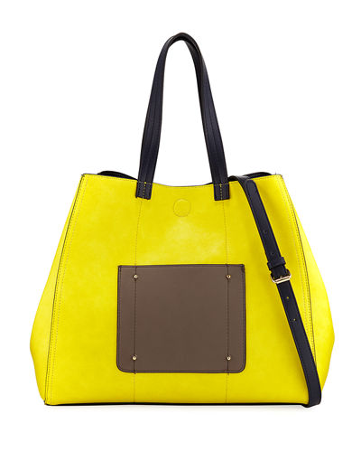 Reversible Colorblock Tote Bag
